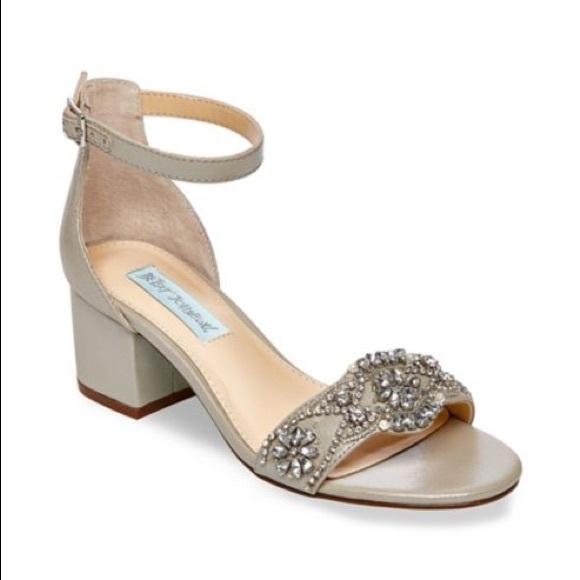 87c0f2ada01 Betsey Johnson Shoes - Silver Betsey Johnson Mel Embellished Strap Sandal